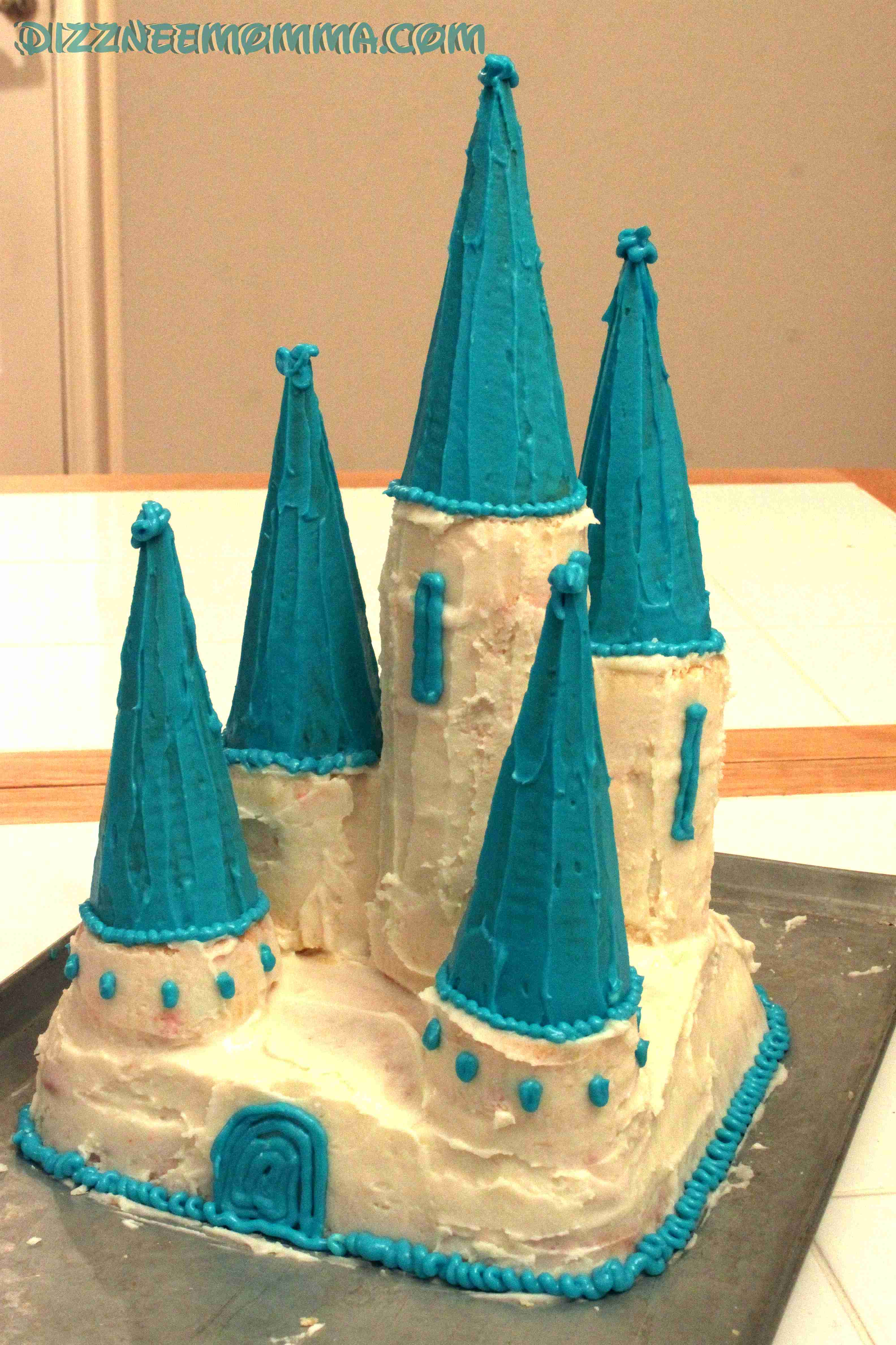 How To Make Disney Castle Cake